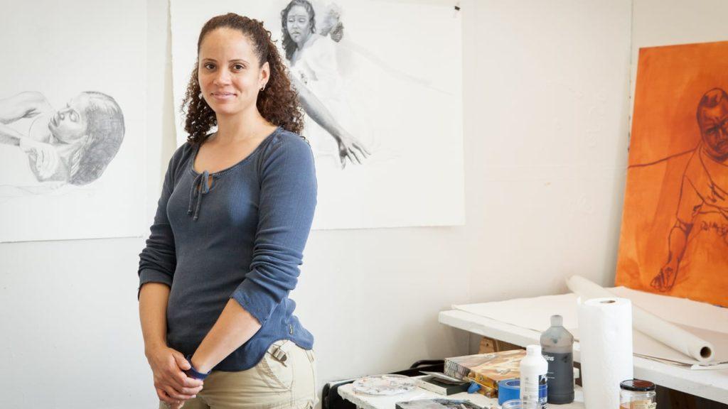 Presentación de Artista Visitante, la pintora Nina Buxenbaum