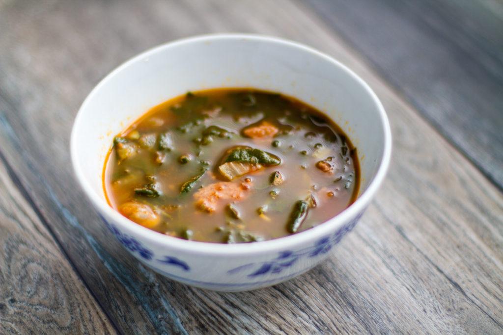 Sopa de Chorizo y Espinacas