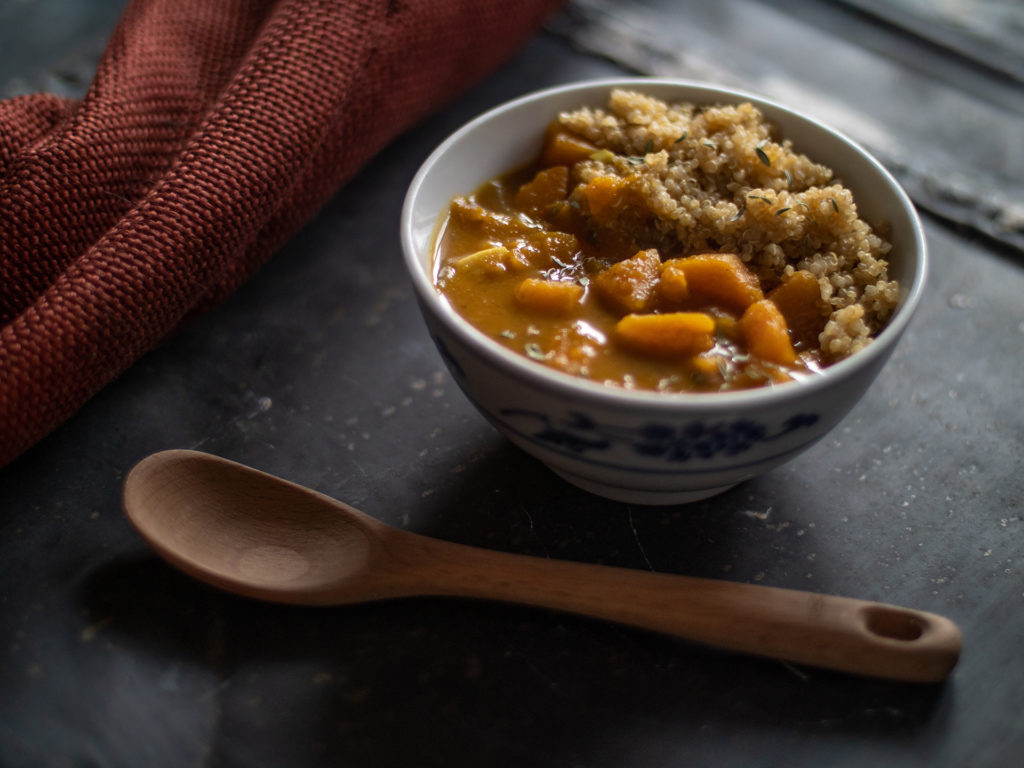 Curry de Calabaza y Coco